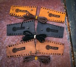 Quality Ural Leather Lever Covers Harley Davidson Motorcycle Black Tan Or Brown