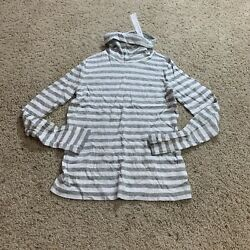 J Crew Ac908 Girls Striped Gray Tissue Turtleneck Size 8 Comfort Stretch