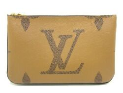 Auth LOUIS VUITTON Pochette Double Bull Zip M69203 GI2200 Other Style Wallet