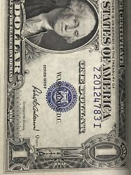 Error《 On Top 7 Consecutive Number 1 1935-f Sliver Certificates 》unc,top Rare!