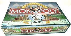 Monopoly 1998 Deluxe Edition Board Game Wood Houses Hotels Complete