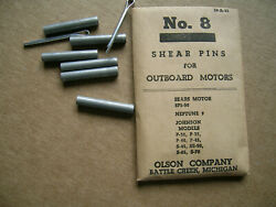 Vintage 8 Olson Sears Neptune Outboard Motor Shear Pins Nos 3/16 X 1-1/8