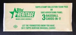 2011 Topps Heritage 1962 Advertising Panel Or Stamp Collection Team Page Pack