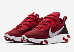NIKE REACT ELEMENT 55 SE Gym Red Wolf Grey White Size 8-13 New BQ6166-601 $68.88