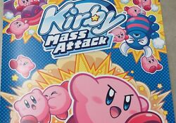2011 Original Nintendo Ds Kirby Mass Attack Large Store Promo Poster 22x28