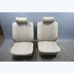 1982-1984 Bmw E28 5-series Early Model Factory Front Seat Pair Beige Vinyl Oem