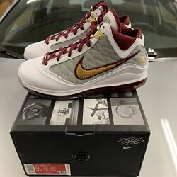 Nike Lebron 7 Mvp 2020 White Bronze Red - Brand New Size 10 100 Authentic