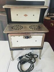 Empire Vintage Electric Toy Stove And Oven Metal Ware Corp Pre-war 1930's