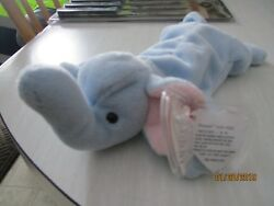 TY BEANIE PEANUT THE ELEPHANT WITH TAG ERRORS RARE RETIRED 1995 MINT CONDITION