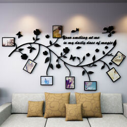 Family Tree Branch Wall Decals 3D DIY Photo Frame Wall Stickers Mural Home Decor