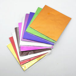 Multi-color Square Tin Foil Paper Sheets For Chocolate Baking Candy Wrapping