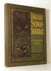 Dwight W Huntington / In Brush Sedge And Stubble Picture Book 1st Edition 1898