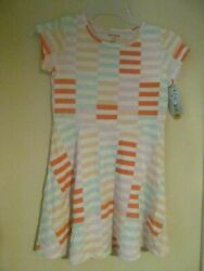 Nwt CAT amp; JACK brand girls striped flair summer dress sz. xs 4 5