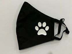 Puppy Paw Dog Lover Nano-Polyester Foldable Anti-Microbial Face Black Mask $9.99