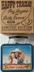 Fossil Happy Trails Roy Rogers And Dale Evans Limited Edition Collectors Watch Set