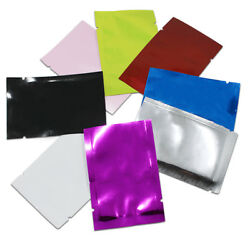 Colorful Heat Seal Smell Proof Foil Bags Pouches Food Storage Vacuum Packaging
