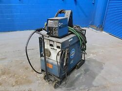 300 Amps Miller Cp300 Mig Welder 24v Wire Feed W Leads And Portable Cart