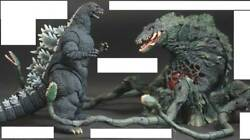 S.h.monsterarts Bright Symphony Godzilla And Biollante Figure With Game Soft