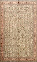 Vegetable Dye Semi-antique Hand-knotted Anatolian Turkish Oriental Area Rug 7x10