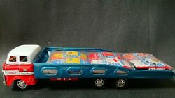 Tin Toy Auto Transport Furiction Powered Made In Japan Old Vintage Antique