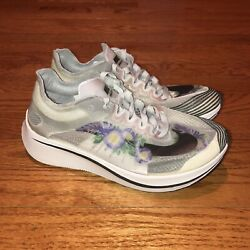 Nike Zoom Fly Sp Gpx Rs Pure Platinum White Flower Av3523-001 Womenandrsquos Size 6
