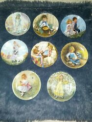 Mother Goose Treasured Songs Complete Set Of 8 John Mcclelland Collector Plates