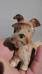 CERAMIC YORKSHIRE TERRIER dog CHARMING OLD FIGURINE GERMANY