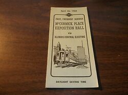 APRIL 1964 ILLINOIS CENTRAL ELECTRIC  McCORMICK PLACE EXPOSITION HALL TIMETABLE