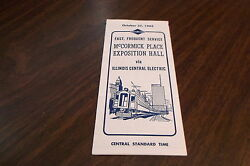 OCTOBER 1963 ILLINOIS CENTRAL ELECTRIC  McCORMICK PLACE EXPOSITION HALL SERVICE