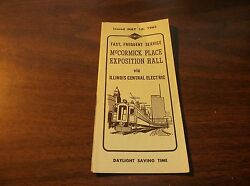 MAY 1963 ILLINOIS CENTRAL ELECTRIC  McCORMICK PLACE EXPOSITION HALL TIMETABLE