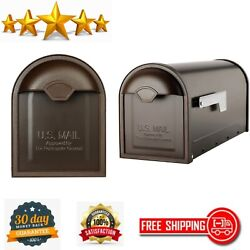 Post Mount Mailbox Winston Commercial Residential Usps Approved Rubbed Bronze