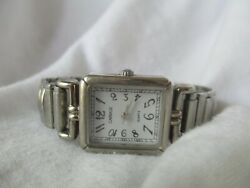 Carriage By Timex Women's Silver Toned Wristwatch W/ Expansion Band Wristwatch
