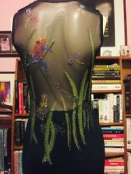 Xtrmly Rare St. John Couture Frogs Dragonfly Sparkling Crystal Gown 6