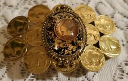 Coin Belt Buckle Buffalo Nickels 1900 Indian Head Penny Coin Gold Nugget Flake