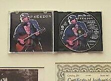 Neil Young Freedom Limited Edition Cd And Autographed Photo Set With Framed Rare