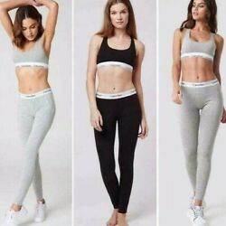 Calvin Klein Underwear Women#x27;s Modern Cotton Bralette amp; Leggings Set $24.95