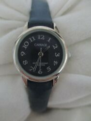 Carriage By Timex Women's Classy Blue And Silver Toned Wristwatch
