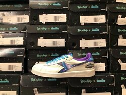 Diadora Game Intergalactic Rick And Morty Mens Leather Sneakers/trainers New