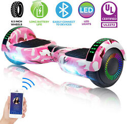 6.5 Hoverboard Bluetooth Electric Self Balancing Scooter Sidelights No Bag Pink