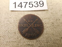 1805 Sweden 1/12 Skilling Collectible Album Grade Unslabbed Raw Coin - 147539