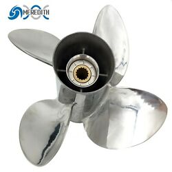 Stainless Steel-outboard-propeller 13x19 Rh For Yamaha 50-130hp 4 Blade 15t
