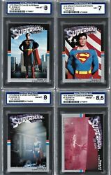 1978 Drakeand039s Cakes Superman The Movie Complete Sets From 1 To 24 Isa Grade
