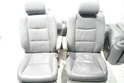 2003 2004 Lexus Gx470 Front And Rear 2nd Row And 3rd Row Seat Leather Oem
