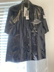 Air Dior Black Short Sleeve Button Up Brand New W/ Tags In Hand Unreleased