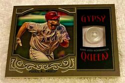 Albert Pujols 2016 Topps Gypsy Queen Jersey Button Patch Masterpiece Serial 1/1