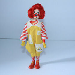 Nice Remco Mcdonalds Ronald Doll Movable Arms Legs Head 8 Action Figure 1976