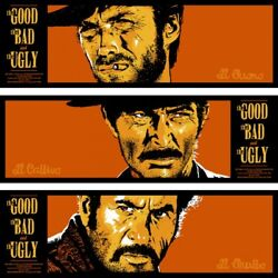 The Good, The Bad The Ugly By Bill Perkins - Tiptych Set -sold Out Mondo Print