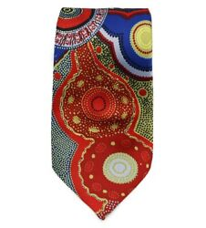 Kangaroo Story Red/blue Outstations Tie