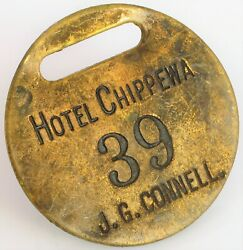 Antique Hotel Chippewa Falls Wisconsin Historic Jg Connell Hotel Room Key Fob