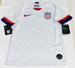 Nike Us Usa National Team 2019 White Stadium S/s Home Soccer Jersey New Youth M